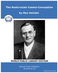 The Rosicrucian Cosmo-conception, Score ... by Heindel, Max