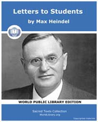 Letters to Students by Heindel, Max