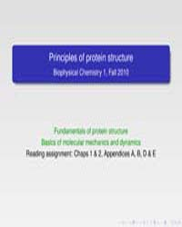Principles of Protein Structure by Case, David A.