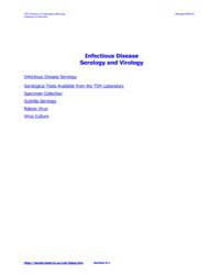 Infectious Disease Serology and Virology by Technical Books Center