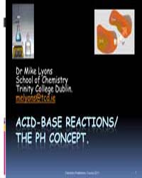Acid Base Reactions the Ph Concept by Lyons, Dr. Mike