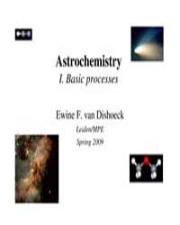 Astrochemistry Basic Processes by Dishoeck, Ewine F. Van