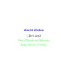 Molecular Vibrations by Sherrill, C. David