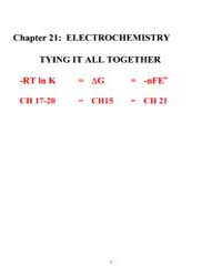 Electro Chemistry Lecture Notes by Laude, Professor
