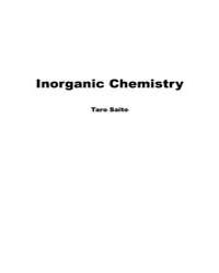 Inorganic Chemistry Ino0001 by Saito, Taro