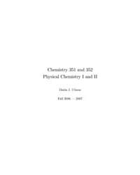 Physical Chemistry I and II by Ulness, Darin J.