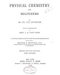 Physical Chemistry for Beginners by Deventer, Ch. Van