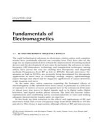 Fundamentals of Electromagnetics by Technical Books Center