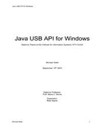 Java Usb Api for Windows by Stahl, Michael