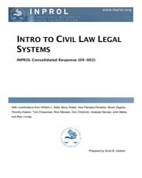 Introduction to Civil Law Legal Systems by Carlson, Scott N.