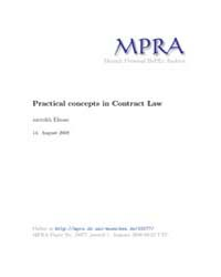 Practical Concepts in Contract Law by Ehsan, Zarrokh