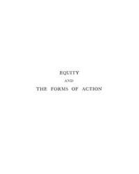 Equity, Also the Forms of Action at Comm... by Maitland, Frederic William