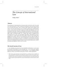 The Concept of International Law by Allott, Philip