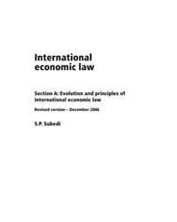 International Economic Law by Subedi, S.P.