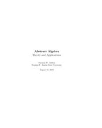 Abstract Algebra Theory and Applications... by Judson, Thomas W.