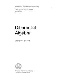Differential Algebra 1 by Fels Ritt, Joseph