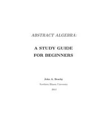 Abstract Algebra a Study Guide for Begin... by Beach, John A.