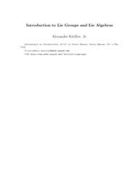 Introduction to Lie Groups and Lie Algeb... by Kirillov, Alexander