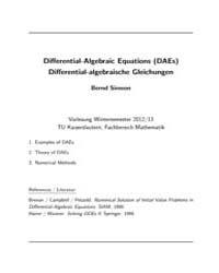 Differential Algebraic Equations by Simeon, Bernd