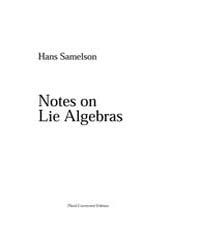 Notes on Lie Algebras ; Samelson II by Samelson, Hans
