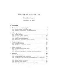 Notes on Algebraic Geometry by Skorobogatov, Alexei