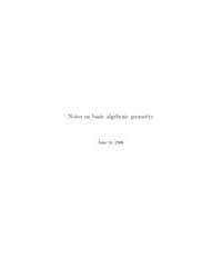 Notes on Basic Algebraic Geometry II by Arapura, Donu