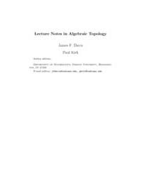 Lecture Notes in Algebraic Topology III by Davis, James F.; Kirk, Paul