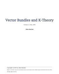 Vector Bundles K Theory by Hatcher, Allen