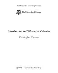 Introduction to Differential Calculus, P... by Thomas, Christopher