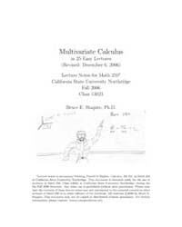 Multivariate Calculus in 25 Easy Lecture... by Shapiro, Bruce E.
