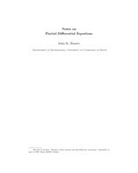 Notes on Partial Differential Equations ... by Hunter, John K.