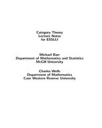 Category Theory Lecture Notes for Esslli by Barr, Michael
