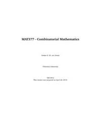 Mat377 - Combinatorial Mathematics by Zwam, Stefan H. M. Van