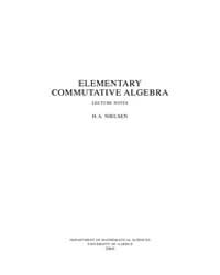 Elementary Commutative Algebra by Nielsen, H.A.