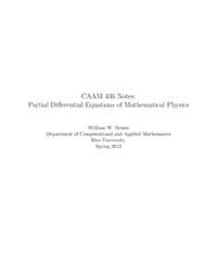 Partial Differential Equations of Mathem... by Symes, William W.