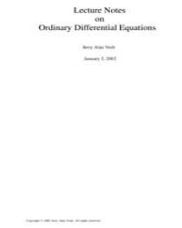 Lecture Notes on Ordinary Differential E... by Veeh, Jerry Alan