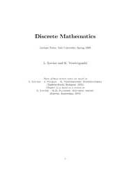 Discrete Mathematics Book 1 by Lovasz, L.