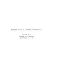 Lecture Notes in Discrete Mathematics by Finan, Marcel B.