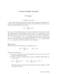 Cm418Z Fourier Analysis by Safarov, Yu.