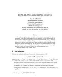 Real Plane Algebraic Curves I by Puente, M.J. De La
