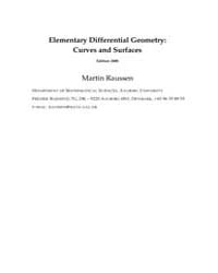 Elementary Differential Geometry Curves ... by Raussen, Martin