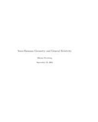 Semi-riemann Geometry and General Relati... by Sternberg, Shlomo