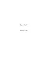 Higher Algebra II ; Number 1 by Lurie, Jacob
