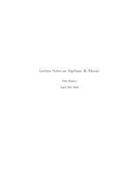Lecture Notes on Algebraic K-theory II by Rognes, John