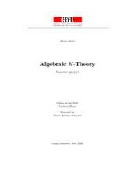 Algebraic K-theory by Hess, Kathryn