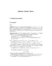 Algebraic Number Theory by Technical Books Center