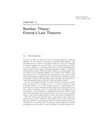 Number Theory: Fermats Last Theorem by Singh, Simon