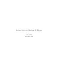Lecture Notes on Algebraic K-theory I by John Rognes