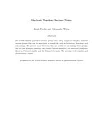 Algebraic Topology Lecture Notes 3 by Evslin Jarah; Wijns, Alexander