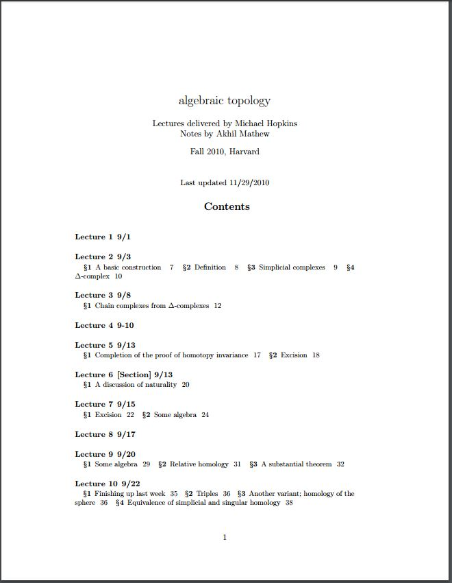 Algebraic Topology by Hopkins Michael; Mathew, Akhil